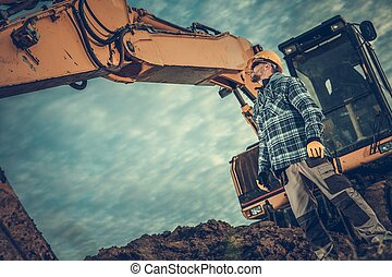 Excavator Operator at Work
