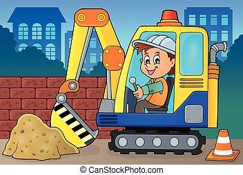 Excavator operator theme image 2