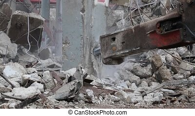 Excavator rock hydraulic breaker hammer with audio