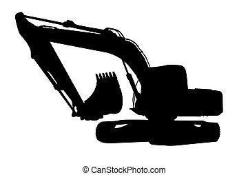Excavator - Silhouette big excavator