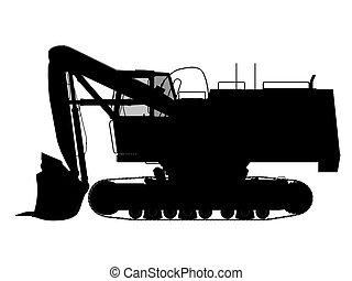 excavator silhouette outline