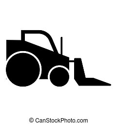 Excavator solid icon. vector illustration isolated on white. glyph style design, designed for web and app. Eps 10