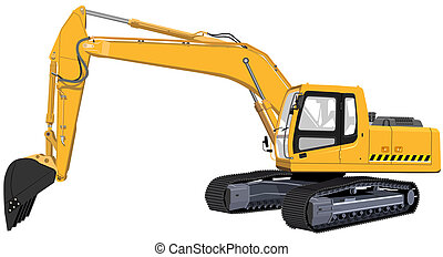 Excavator. The Illustration