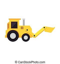 excavator toy isolated icon