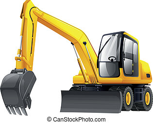 Excavator - Illustration of an excavator