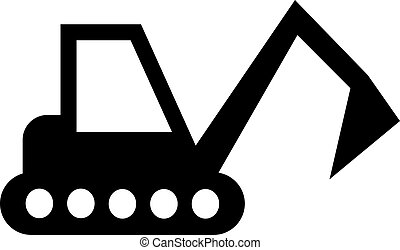 excavator vector icon. Illustration isolated for graphic and web design.