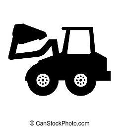 excavator vehicle isolated icon