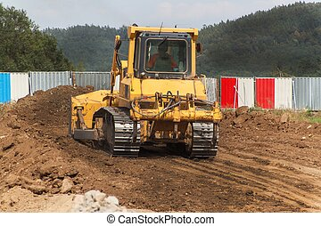 Excavator working on a construction site.