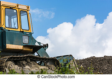 Construction machinery at a construction site