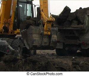 excavators work