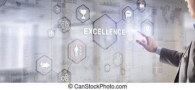 excelência, negócio, concept., 2021., perseguição