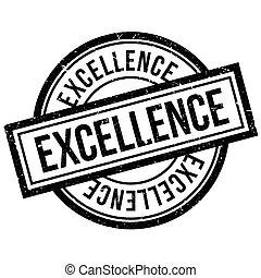 excelência, selo borracha