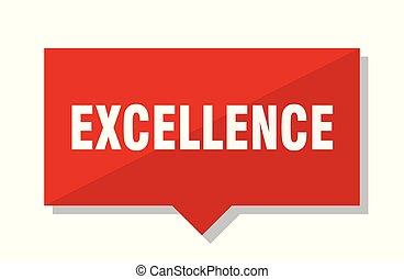 excelência, tag vermelho