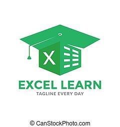 Excel Academy logo design vector