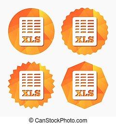Excel file document icon. Download xls button. XLS file ...