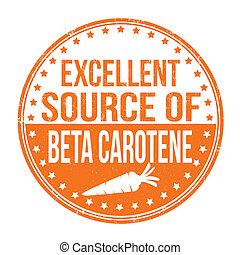 excelente, fonte, de, caroteno beta, selo