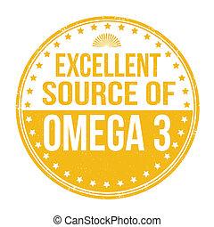 excelente, fonte, de, omega 3, selo