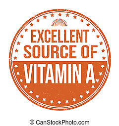 excelente, fonte, de, vitamina um, selo