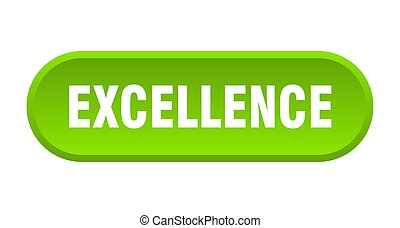 excellence button. excellence rounded green sign. excellence
