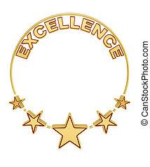 excellence, cinq, récompense, étoiles