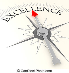Excellence compass image with hi-res rendered artwork that ...