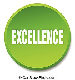 excellence green round flat isolated push button