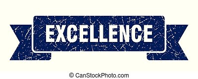 excellence grunge ribbon. excellence sign. excellence banner