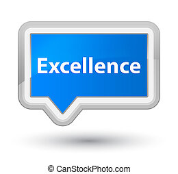 Excellence prime cyan blue banner button