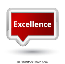 Excellence prime red banner button