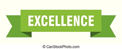 excellence ribbon. excellence isolated sign. excellence ...