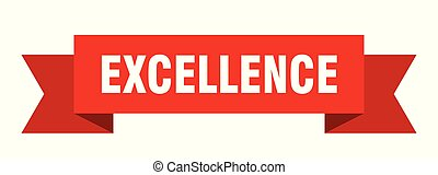 excellence ribbon. excellence isolated sign. excellence...