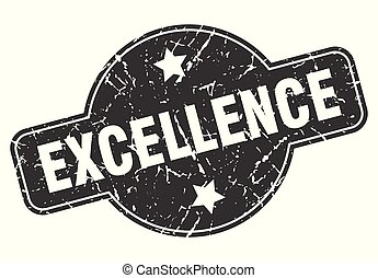 excellence round grunge isolated stamp