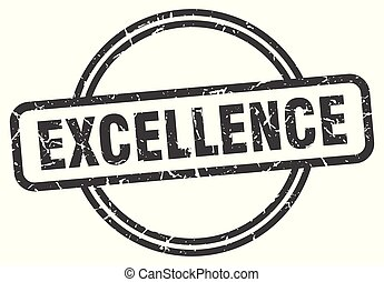 excellence vintage stamp. excellence sign