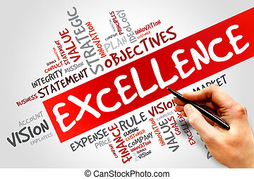EXCELLENCE word cloud, business concept