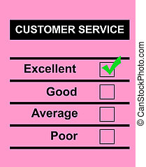 Excellent customer service - Customer service questionnaire...