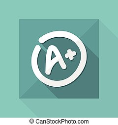 Excellent evaluation or rating - Vector flat icon
