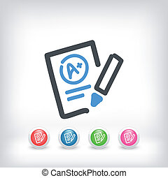 Excellent evaluation test icon - Illustration of excellent...