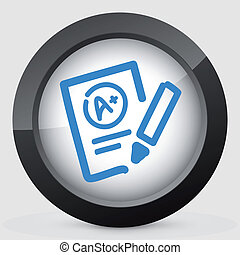 Illustration of excellent evaluation test icon