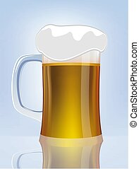 Excellent  glass of beer. Vector illustration