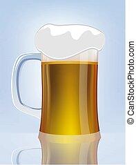 Excellent  glass of beer. Vector illustration