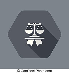 Excellent legal services - Flat and isolated vector ...