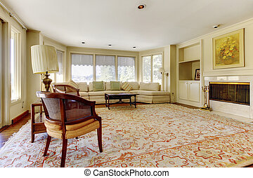 Excellent living room interior - Excellent living room with...