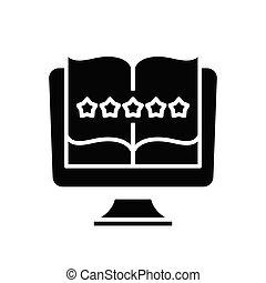 Excellent mark black icon, concept illustration, vector flat symbol, glyph sign.