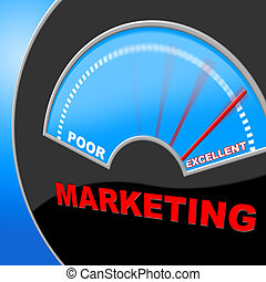 Excellent Marketing Represents Selling Excelling And Perfect...