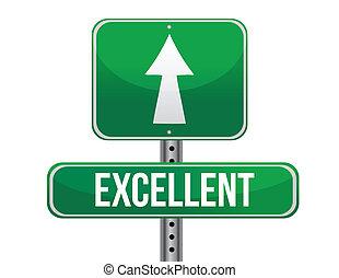 excellent road sign illustration design