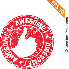 Excellent rubber stamp  - Vector illustration - EPS10
