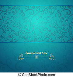 Excellent seamless floral pattern blue background