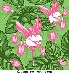 Excellent seamless pattern with fuchsia