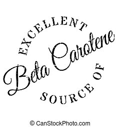 Excellent source of beta carotene stamp