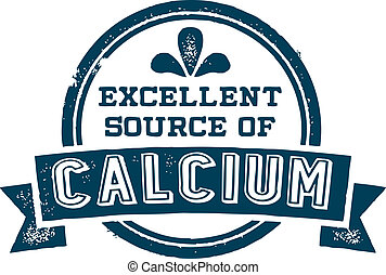 Excellent Source of Calcium - Vintage style vector product...